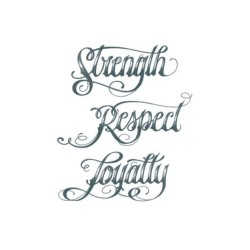 Tattooed Now! - Strenght Respect Loyalty Script