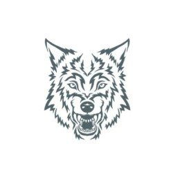 Tattooed Now! - Tribal Wolf