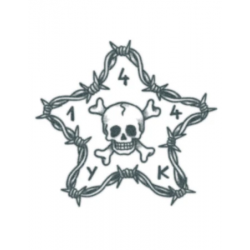 Tattooed Now! - Barbwire Star with Skull
