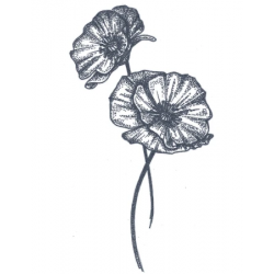 Tattooed Now! - Dotwork Poppy Flower