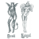 Tattooed Now! - Angel and Devil Pin-up Girls