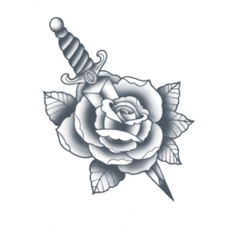 Tattooed Now! - Rose and Dagger