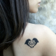 Tattooed Now! Dolphine Hearts