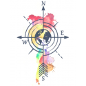 Tattooed Now! - Watercolour Compass